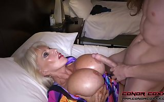 Massive jugged, platinum-blonde grandma doesn't plan to stop penetrating men, because it perceives so excellent