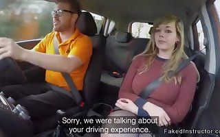 Fat booty driving college girl plowing